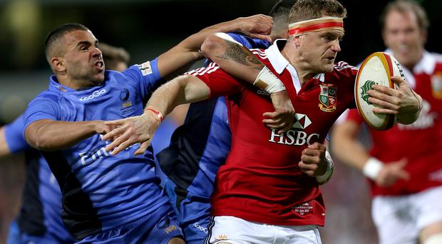 Jamie Heaslip in action for the Lions