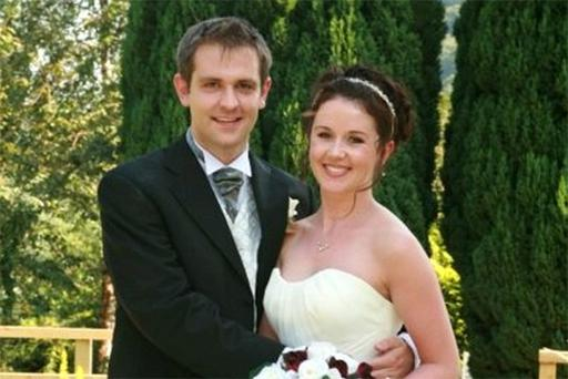 Jill and Tom Meagher on their wedding day