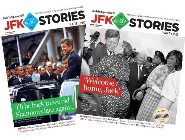 The two JFK supplements that will appear on Saturday and Monday