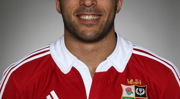 Simon Zebo in his Lions jersey