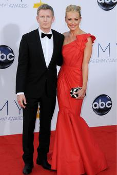 Mandatory Credit: Photo by Broadimage / Rex Features (1872884bl) Patrick Kielty and Cat Deeley The 64th Annual Primetime Emmy Awards, Arrivals, Los Angeles, America - 23 Sep 2012