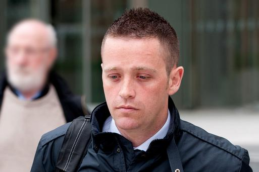 Garda Paul Fogarty leaving Dublin Circuit Criminal Court