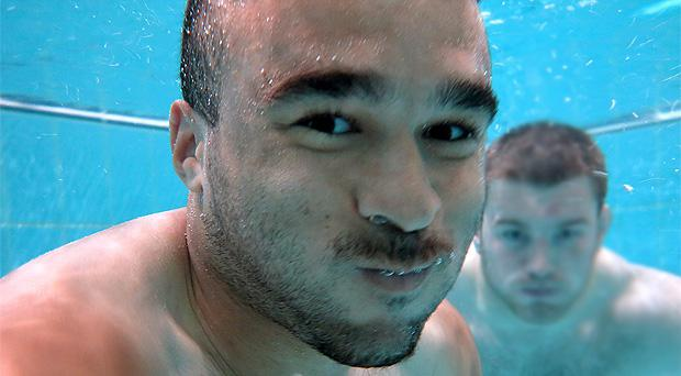 Simon Zebo will make his first Lions appearance on Saturday. Yesterday, the Munster winger took to the pool for a recovery session alongside Ireland team-mate SeanO'Brien