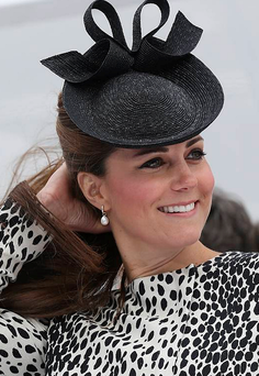 Kate, who is more than eight months pregnant, will be staying at home