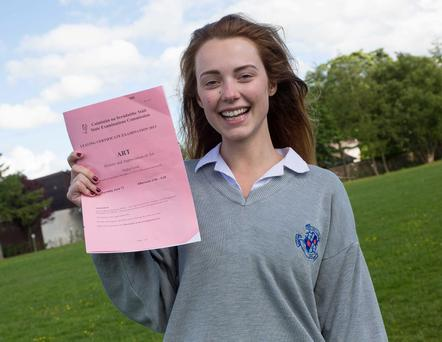 Gracie O'Mahony, a student at the Loreto Convent in Kilkenny city, had just finished the Art, History and Appreciation paper.