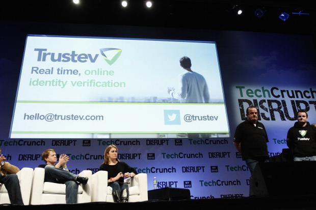 NEW YORK, NY - APRIL 30: Trustev presents onstage at the TechCrunch Disrupt NY 2013 at The Manhattan Center on April 30, 2013 in New York City. (Photo by Brian Ach/Getty Images for TechCrunch)