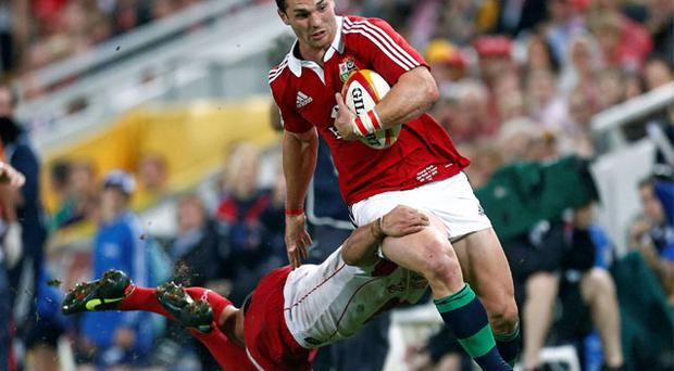 George North in action against Queensland Reds'