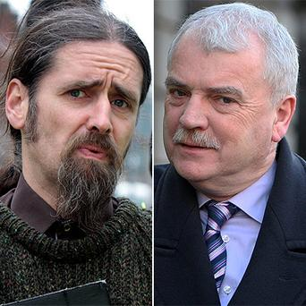 Luke 'Ming' Flanagan, left, was dubbed a hypocrite by Finian McGrath
