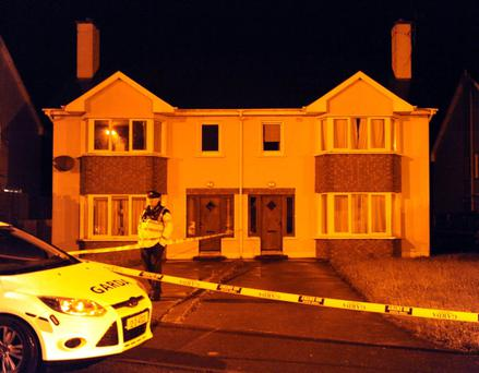 The scene at Langford Downs, Killorglin in the early hours of Monday morning.