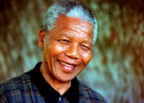Then South African President Nelson Mandela is pictured in this August 1996 file photo.