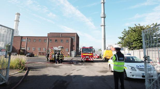 Fire crews at the ESB sub station on Pidgeon House Road