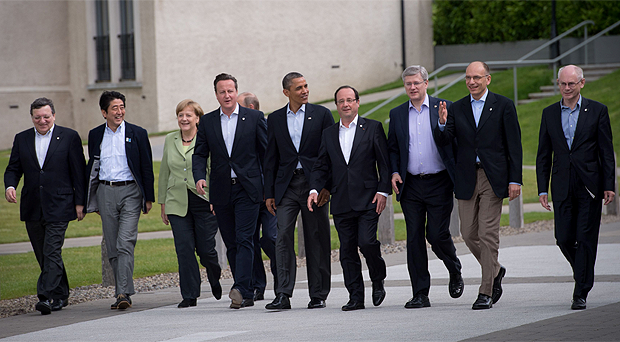 World leaders at the G8 Summit