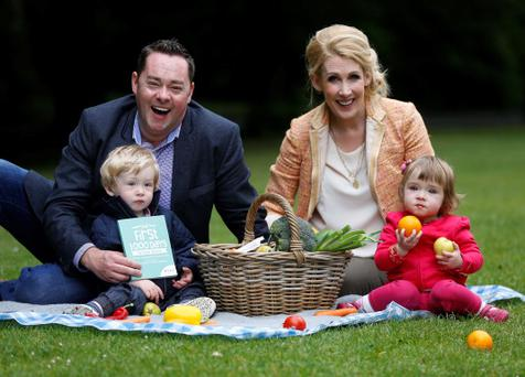 Husband and wife team, Neven and Amelda Maguire, with twins, Connor and Lucia