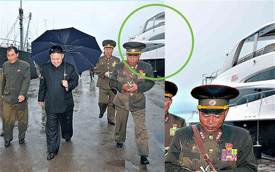 The image where the leader's yacht can be seen. Photo: NK news