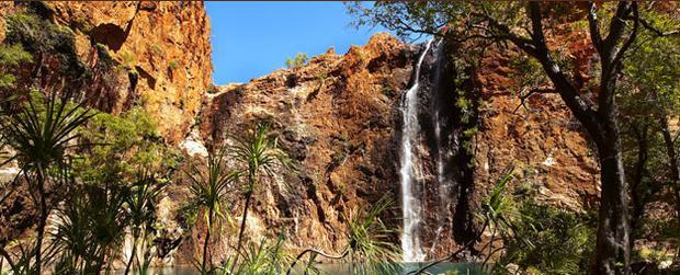 The waterfall at El Questro Wilderness Park, Australia.