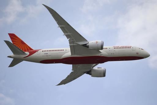An Air India Boeing 787 Dreamliner performs its demonstration flight during the 50th Paris Air Show at Le Bourget airport, north of Paris, this week