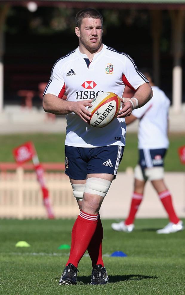 SYDNEY, AUSTRALIA - JUNE 13: Sean O'Brien of the Lions looks on during the British and Irish Lions training session at North Sydney Oval on June 13, 2013 in Sydney, Australia. (Photo by David Rogers/Getty Images)