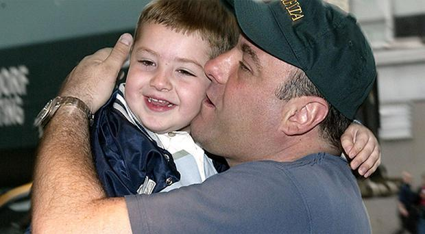 James Gandolfini and son Michael attend the screening of