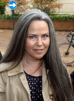 Duke of York's ex-girlfriend Koo Stark who has walked free from court after she returned a ?40,000 painting she was accused of stealing from a former partner
