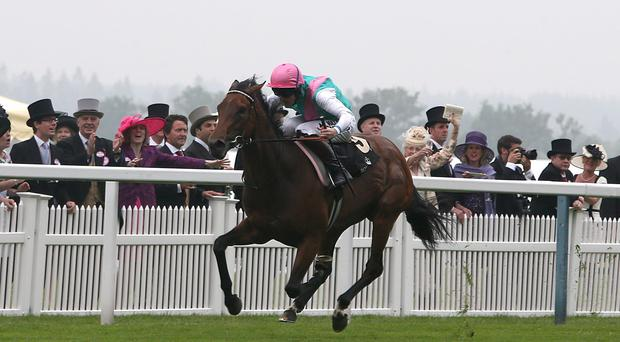 Riposte ridden by Tom Queally wins the Ribblesdale Stakes