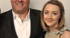 Saoirse filmed the 2011 flick Violet & Daisy with Gandolfini