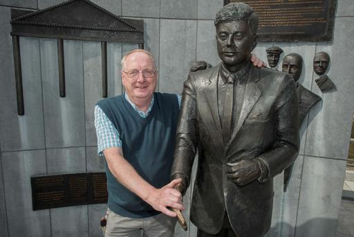 New Ross 50th anniversary of visit by JFK. Victor Furness sang in the choir for JFK when he visited.