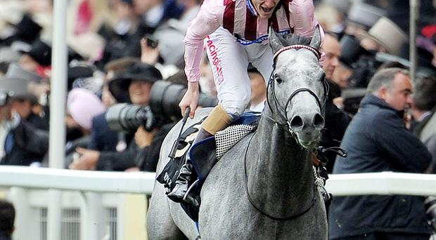 Lethal Force ridden by Adam Kirby wins the Diamond Jubilee Stakes