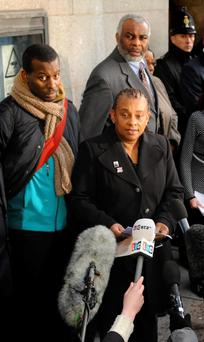 Stephen Lawrence's mother Doreen Lawrence alongside Stephen's father Neville (right) and brother Stuart (left)