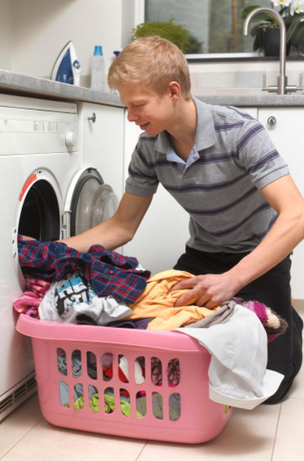 Returning teens are strangely possessive about their laundry, which meant they'd do that all themselves.