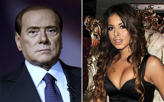 Former Italian Prime Minister Silvio Berlusconi and Moroccan Karima El Mahroug, nicknamed Ruby the Heartstealer