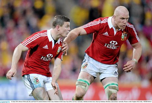 Brian O'Driscoll and Paul O'Connell on Saturday