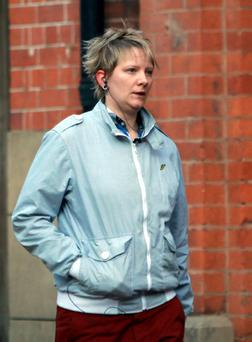 Rebecca Shuttleworth who was found guilty today of murdering her two-year-old son, who was beaten to death after suffering months of ill-treatment