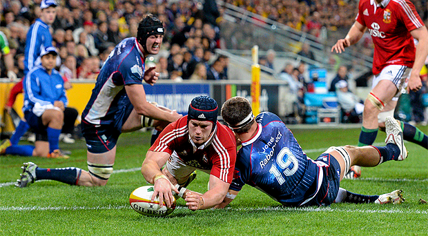 Sean O'Brien in action against Melbourne Rebels