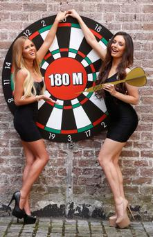 Holly Keating (left) and Kelly Donegan promote the jackpot for tonight's draw which eventually went to €188m