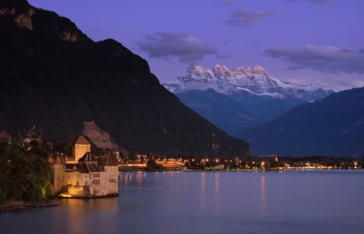 Lake Geneva by night. Thinkstock Images.