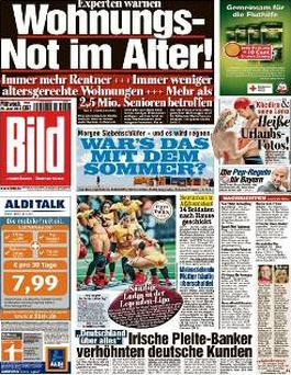 Today's front-page of Bild