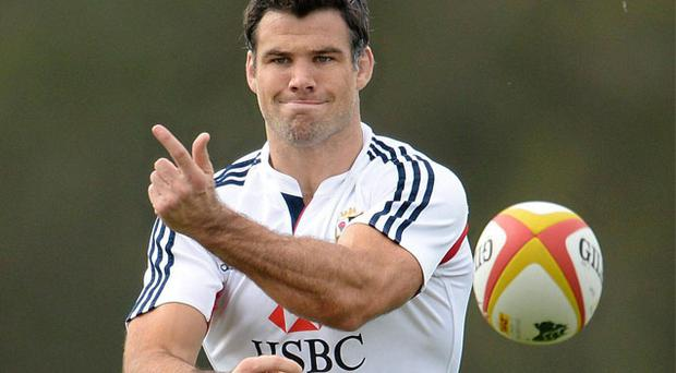 Mike Phillips during Lions training