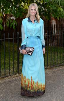 Donna Air arrives at the Serpentine Gallery Summer Party in Hyde Park, London.