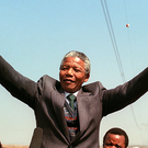 Nelson Mandela pictured in 1990