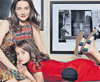 Dara-Lynn and her daughter Bea, as featured in Vogue.