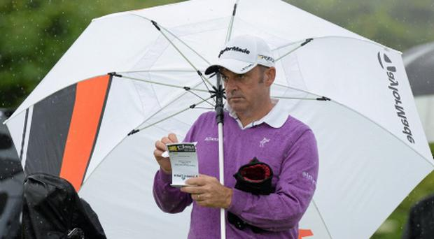 Paul McGinley on the 4th tee on day one