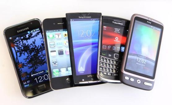 Collection of Smart Phones. Chris Ratcliffe/Bloomberg