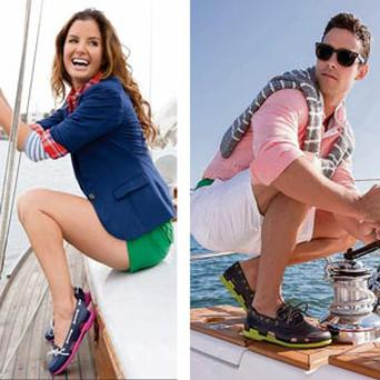 SNAPPILY DRESSED: Crocs as deck shoes for a new campaign