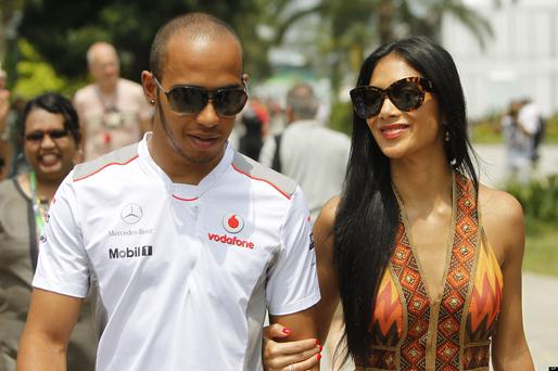 Lewis Hamilton and on/off girlfriend Nicole Scherzinger