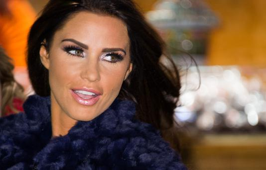 LONDON, ENGLAND - NOVEMBER 22: Katie Price attends the Winter Wonderland launch party at Hyde Park on November 22, 2012 in London, England. (Photo by Ian Gavan/Getty Images)