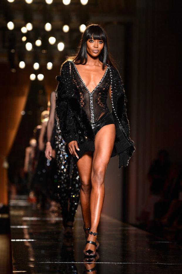 Model Naomi Campbell walks the runway during Versace show as part of Paris Fashion Week Haute-Couture Fall/Winter 2013-2014 at on June 30, 2013 in Paris, France. (Photo by Pascal Le Segretain/Getty Images)