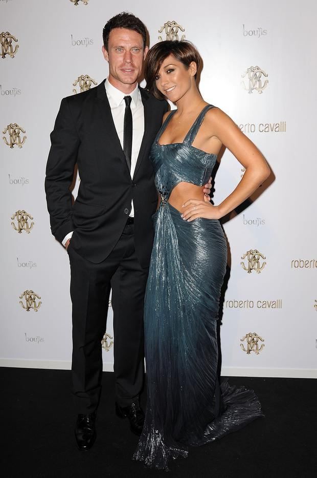 Wayne Bridge and Frankie Sandford attend the after party of of Roberto Cavalli's new store launch on September 17, 2011