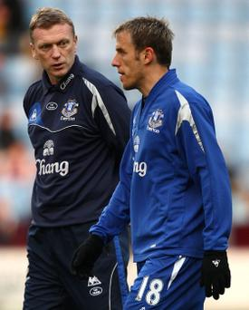 David Moyes (right) and Phil Neville