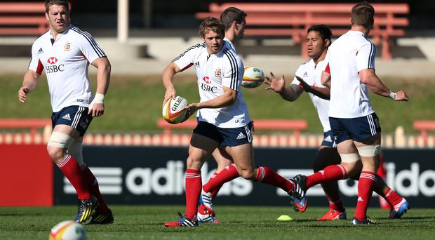 British and Irish Lions' Leigh Halfpenny during the training session at North Sydney Oval, Sydney in Australia