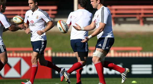 British and Irish Lions' Alun Wyn Jones during the training session at North Sydney Oval